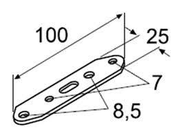 Metallplatte mit Löchern Webasto 10St 9007918 / 9007918A