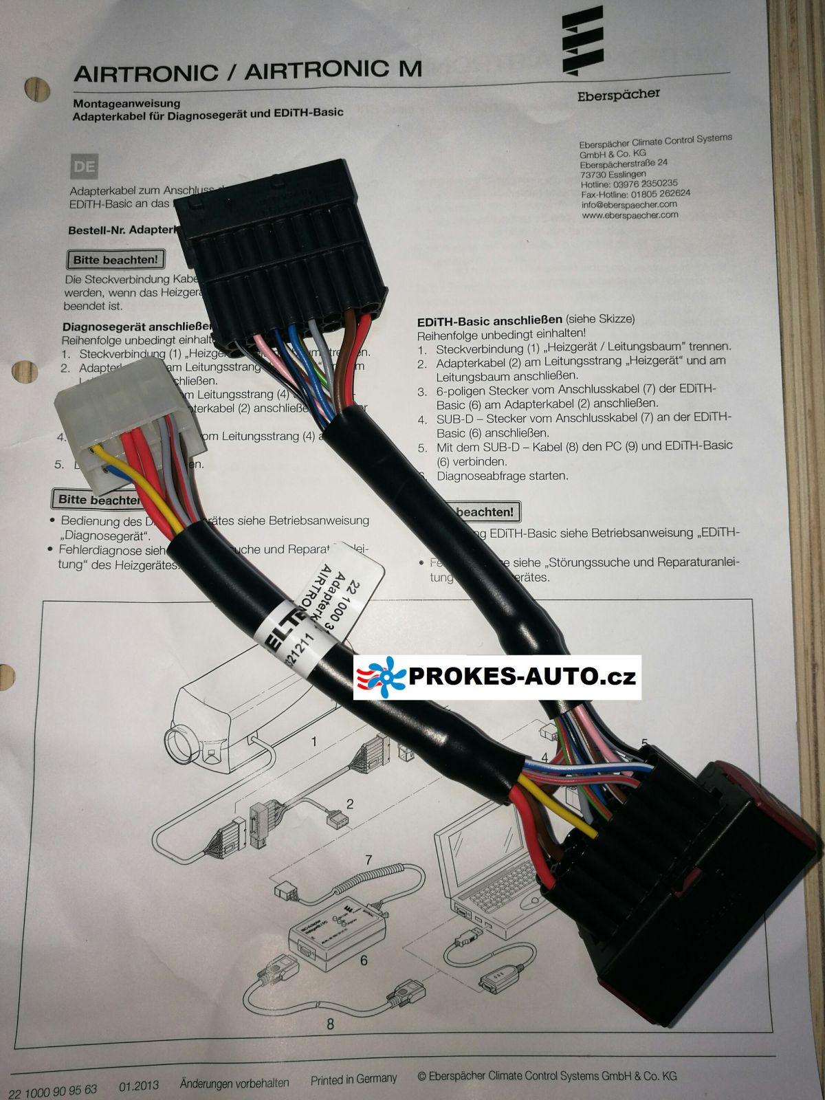Leitungsbaum Adapter Diagnostic Kabel Airtronic D2 / D4 / 221000318600 Eberspächer