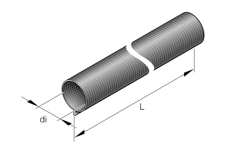Isolationsschutz 28mm x 500mm am Auspuffrohr 24mm Eberspächer