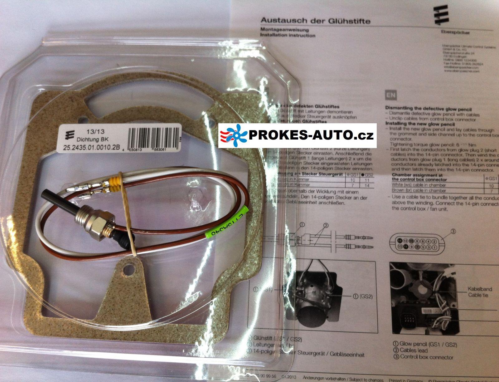 Glühstift mit dichtung 12V Hydronic M-II M8 / 10 / 12 - 252434010100 Eberspächer