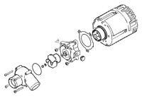 Eberspacher Ersatzteilkit Wasserpumpe Flowtronic 6000SC 252488992510 Eberspächer