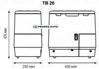 Indel B TB20AM 12/24V 20L Kompressor Kühlschrank mit Gefrierfach