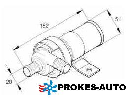 Wasserpumpe / Umwälzpumpe 24V Flowtronic 1200 S 251928800200 Eberspächer