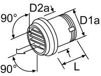 AUSSTROEMER D55mm 90 ° - 101625 Webasto