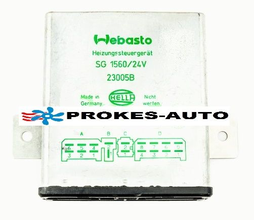 Steuergerat SG1560 GT BW46 24V mit Gluehtakt 1319994 / 23005 Webasto