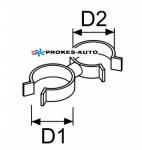 Schlauch- und Kabelhalter d22-24 / d22-24 (5 Stück)
