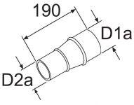 Reduzierstück 80/60mm 252565/1319312 Webasto
