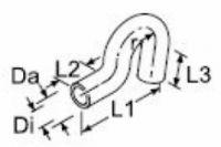 Geformter Wasserschlauch Di18mm 84958 / 1320758 Webasto