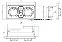 Kalori Remote control PCK 2 control panel 12/24V 340.30.370