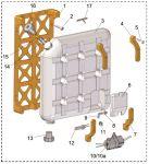 Wasertank-Tragarm  satz 3St.(4) + Einstell-Tankabstuetzung 1St. (7)