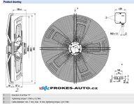 EBM PAPST Saugventilator 910 mm 400V 8-polig S8D910-CD01-01