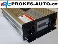 Spannungswandler / Power Inverter 2000W reine Sinuswelle LCD-Anzeige