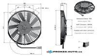 Axial Druck Ventilator Ø 255mm 24V