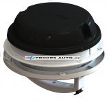Dach- / Wandventilator MaxxAir Maxxfan Dome Plus 12V, schwarz, mit LED-Beleuchtung