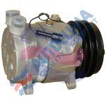 HARRISON UNI Kompressor V5 / 12V Riemenscheibe 132mm 2GA  Anschluss Rotalock Vertical