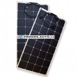 Satz flexibler Sonnenkollektoren 2 x 110 W / 12 oder 24 V inkl. Controller mit Bluetooth-Verbindung