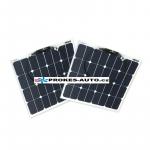 Satz flexibler Sonnenkollektoren 2x 55W / 12 oder 24V inkl. Controller mit Bluetooth-Verbindung