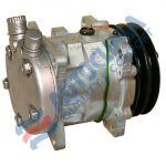 UNI Kompressor 24V SANDEN 5H09 Riemenscheibe 125mm 2GA Anschluss OR vertikal