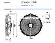 EBM PAPST Saugventilator 630 mm 400V 6-polig S4D630-AH01-01