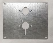 Montageplatte für Heizung