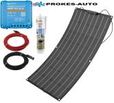 ETFE Flexibles Solarpanel 100W / 12V inkl. Controller mit Bluetooth-Verbindung 10A